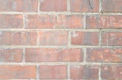 Старая коричневая кирпичная кладка с различными дефектами Стоковое Изображение