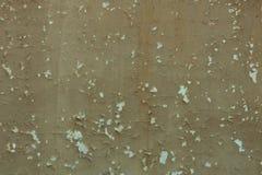 Старая коричневая текстура стены с треснутой краской Стоковая Фотография