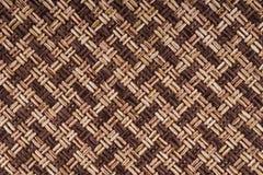 Старая коричневая текстура ткани Стоковые Изображения