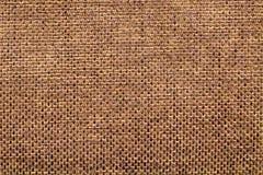 Старая коричневая текстура ткани Стоковые Фото