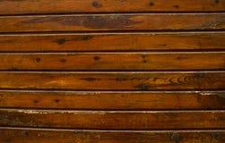 Старая коричневая striped поверхность стены Стоковая Фотография