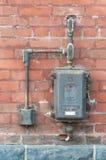 Старая коробка переключателя мощности стоковая фотография