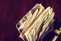 Старая корреспонденция в сумке Стоковые Изображения RF