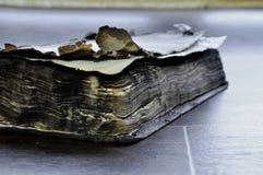 Старая, который сгорели книга стоковое изображение rf