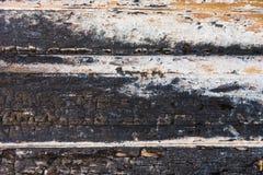 Старая, который сгорели деревянная текстура Стоковое Изображение RF