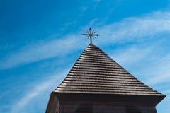 Старая колокольня в деревне Svaty Jur, Словакии Стоковое Фото