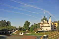Старая красивая православная церков церковь, Yaroslavl стоковая фотография rf