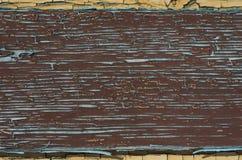 Старая краска на деревянной поверхности Стоковые Изображения RF