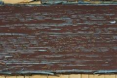 Старая краска на деревянной поверхности Стоковое Изображение RF