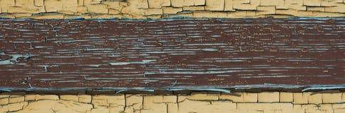 Старая краска на деревянной поверхности Стоковая Фотография RF