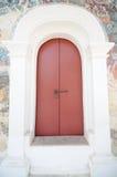 Старая красная дверь Стоковое фото RF