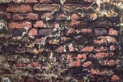 Старая красная и черная старая текстура кирпичей Стоковое Изображение