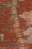 Старая красная кирпичная стена в фоновом изображении стена текстуры кирпича предпосылки старая Винтаж Стоковые Изображения