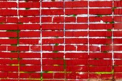 Старая красная кирпичная стена, предпосылка grunge Стоковые Фотографии RF