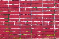 Старая красная кирпичная стена, предпосылка grunge Стоковое фото RF