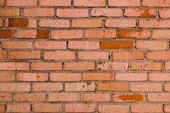 Старая красная кирпичная стена, предпосылка grunge Стоковое Изображение