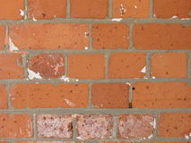 Старая красная кирпичная стена backround дома Стоковое фото RF