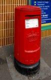 Старая красная коробка столба Стоковое Изображение
