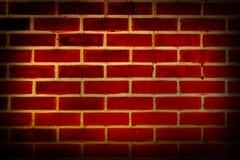 Старая красная поверхность кирпичной стены Стоковое Изображение