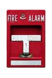Старая красная пожарная сигнализация стоковые изображения rf