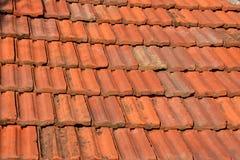 Старая красная плитка текстуры крыши Стоковое Фото