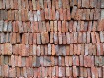 Старая красная текстура кирпичной стены Стоковое Изображение
