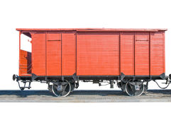 Старая красная фура поезда Стоковое Изображение
