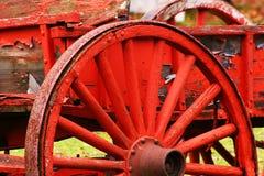 старая красная фура стоковое фото rf