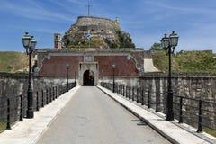 Старая крепость в городе Корфу, Греции Стоковые Изображения RF