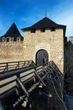 Старая крепость в зоне Украине Hotyn Chernivtsi Стоковое Изображение
