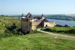 Старая крепость в зоне Украине Hotyn Chernivtsi Стоковое Фото