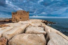 Старая крепость замка Paphos Стоковые Фотографии RF