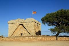 Старая крепость. Мальорка. Испания. стоковые фото
