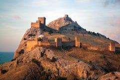 Старая крепость над морем Стоковое Фото