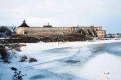 Старая крепость над рекой Стоковая Фотография