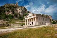 Старая крепость, остров Корфу, Греция Стоковая Фотография