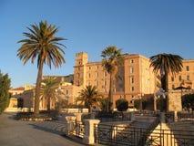 Старая крепость Bastione Сан Remy, в Кальяри, Сардиния, Италия Стоковое Изображение RF