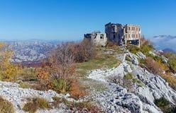 Старая крепость Kom. Черногория Стоковые Фото