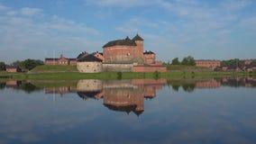 Старая крепост-тюрьма на озере Vanayavesi Hameenlinna, Финляндия видеоматериал