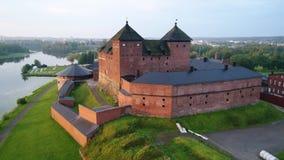 Старая крепост-тюрьма Hameenlinna, утро Финляндия видеоматериал