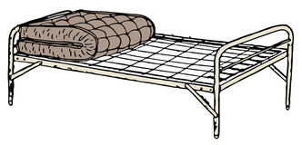 Старая кровать кроватки Стоковые Изображения RF