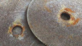 Старая круглая шкурка с ржавчиной стоковая фотография rf