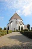 Старая круглая церковь на Борнхольме Дании Стоковые Изображения