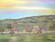 старая крупного поместья мексиканская иллюстрация вектора