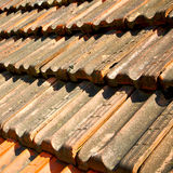 старая крыша в Италии линия и текстура раскосной архитектуры Стоковое Изображение RF