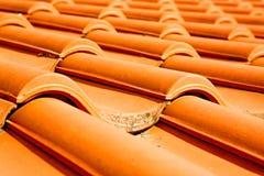 старая крыша в Италии линия и текстура Стоковое Изображение