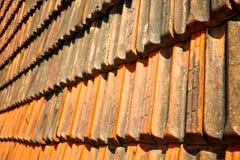 старая крыша в Италии линия и Стоковые Фото