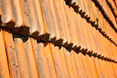 старая крыша в Италии линия Стоковые Изображения