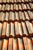 старая крыша в текстуре Италии раскосной архитектуры Стоковое Фото