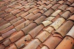 Старая крыша плитки Стоковое фото RF